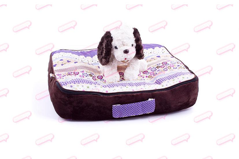 Suitcase Purple ดอกไม้หัวใจ