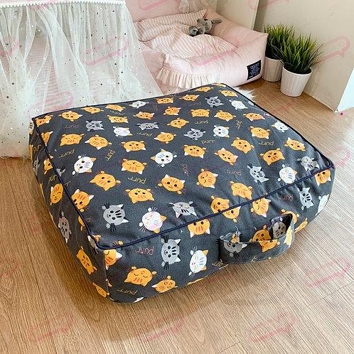 Suitcase ผ้าแคนวาสลายแมวเทาเข้ม