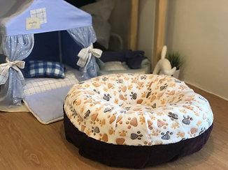 Cozy Bed ขนเป็ดเทียม ลายเท้าหมาน้ำตาล