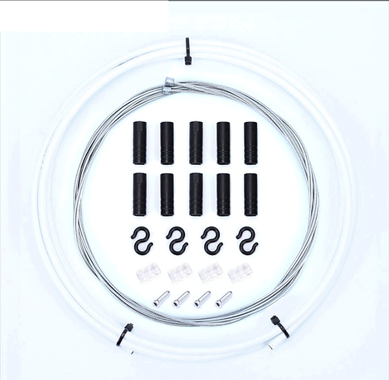 Kit Cables+Gaines Derailleur Blanc