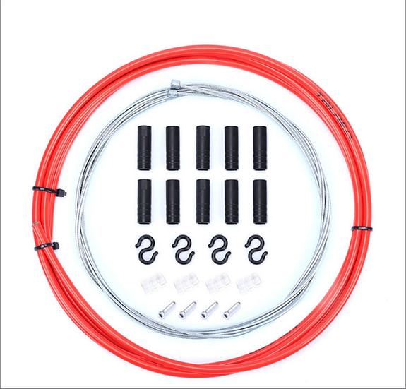 Kit Cables+Gaines Derailleur Rouge