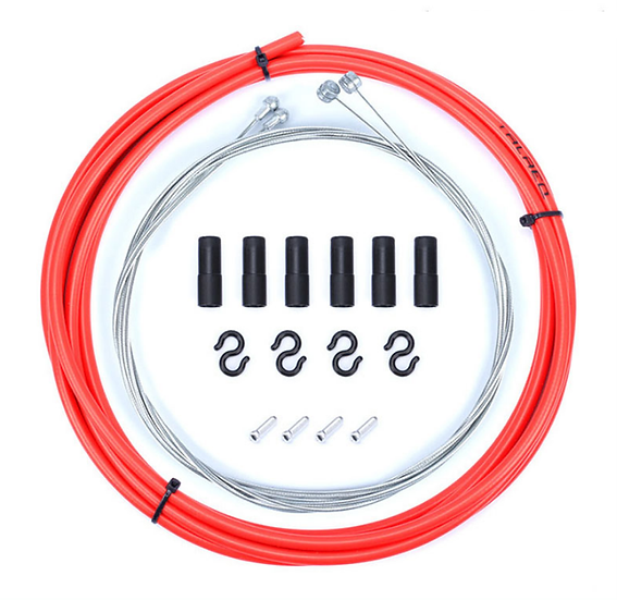 Kit Cables+Gaines Freins Rouge