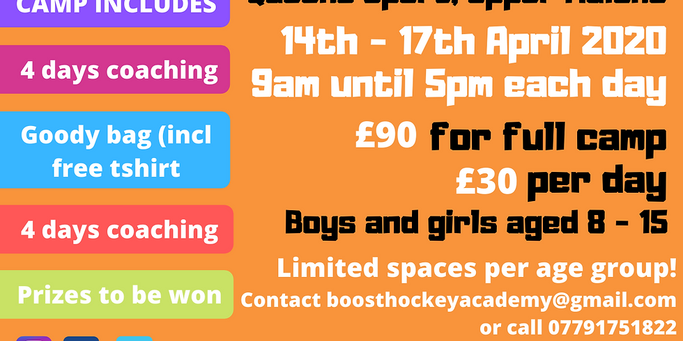 Boost Hockey Easter Camp 2020