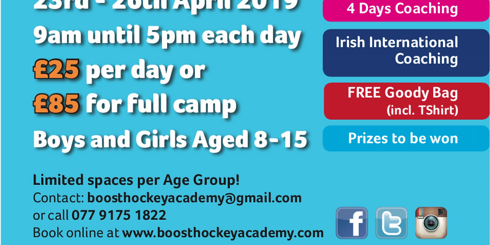 Boost Hockey Easter Camp 2019