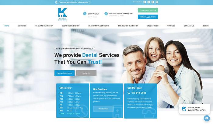 K Family Dentisty_Website Design by GMed