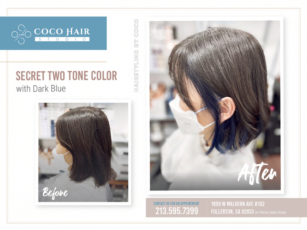 Before & After | Secret Two Tone with Dark Blue