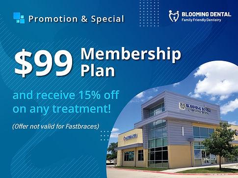 Blooming Dental_$99 Membership Plan_Mar2