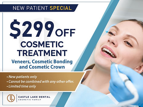 Castle Lake Dental_$299 OFF Cosmetic Tre