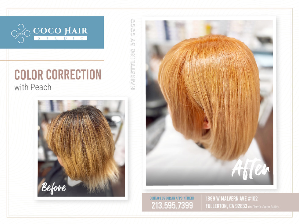 Before & After | Color Correction with Peach