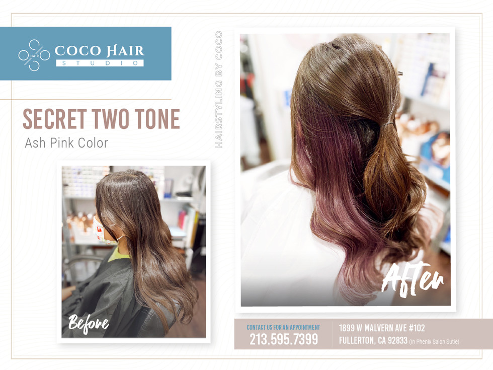 Before & After | Secret Two tone_Ash Pink
