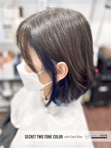 Secret Two Tone Color with Dark Blue