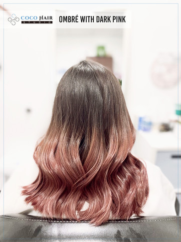 Ombré with dark pink