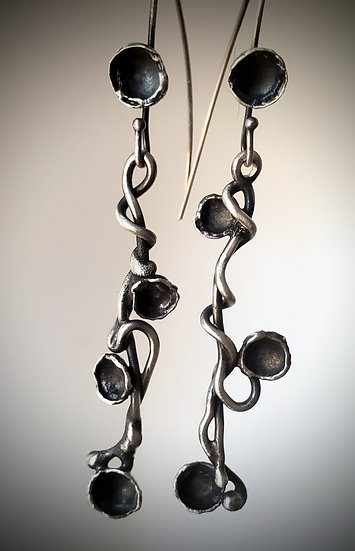 Vine sterling silver earrings