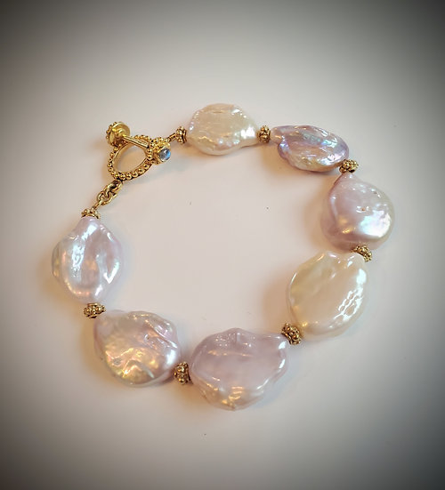Baroque Pearl and Gold Vermeil Bracelet