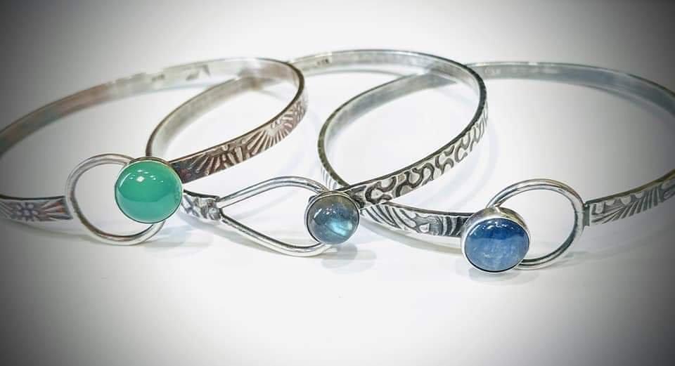 Looped Bangle Bracelets
