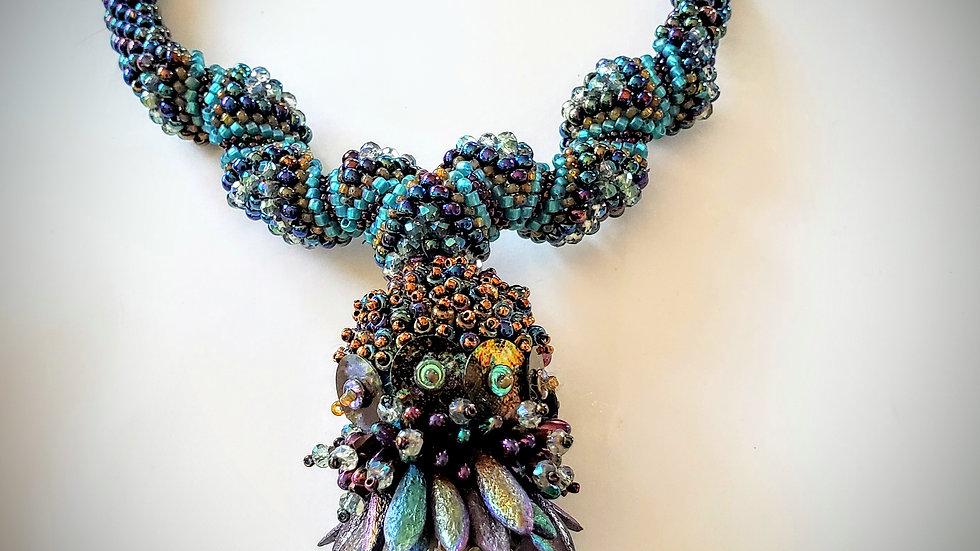 Botany Gone Bad Beaded Necklace