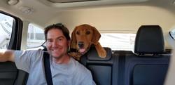 Matt and Oscar out for a joy ride