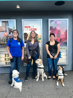 PR's and puppies go to the movies