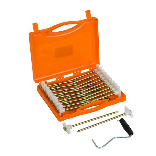 Groundbreaker Glow Peg Set 20.5cm/6.5mm x 20 Peg Ext case