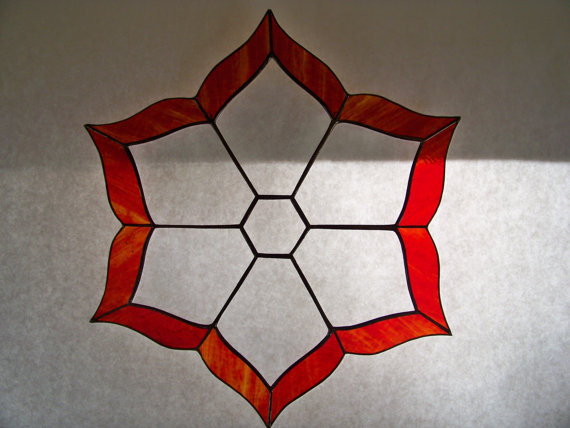 Stained Glass Bevel Cluster Suncatch