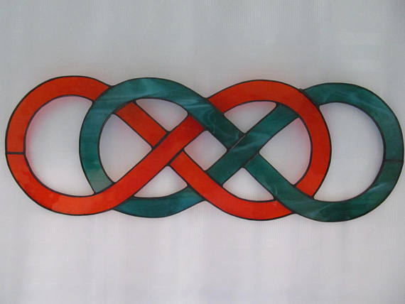 Double Infinity Knot Stained Glass S