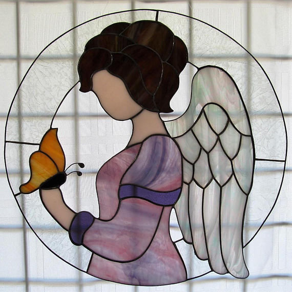 Stained Glass Peace on Earth Angel s