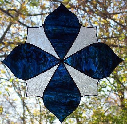 Petals Stained Glass Suncatcher