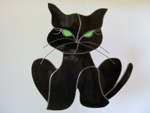 Little Cat Stained Glass Suncatcher