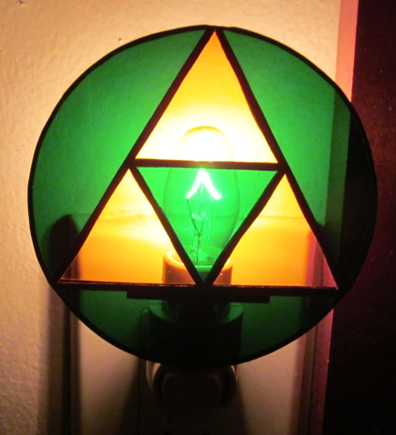 Stained Glass Tri Force Nite Lite
