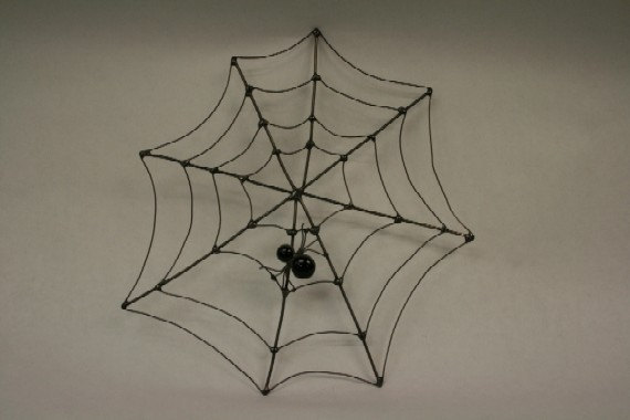 Halloween Wire Web with Glass Spider