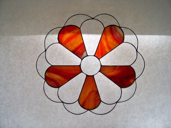 Flower Power Stained Glass Suncatche