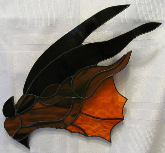 Dragon Head Stained Glass Suncatcher