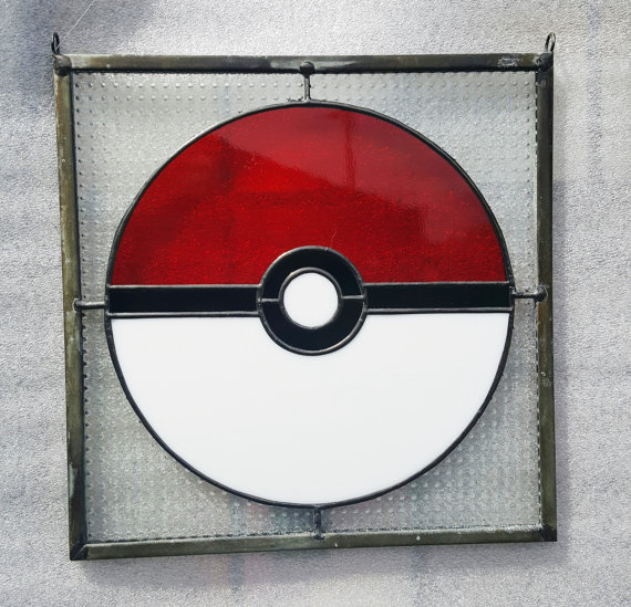 Pokemon Pokeball Fan-Made Stained Gl