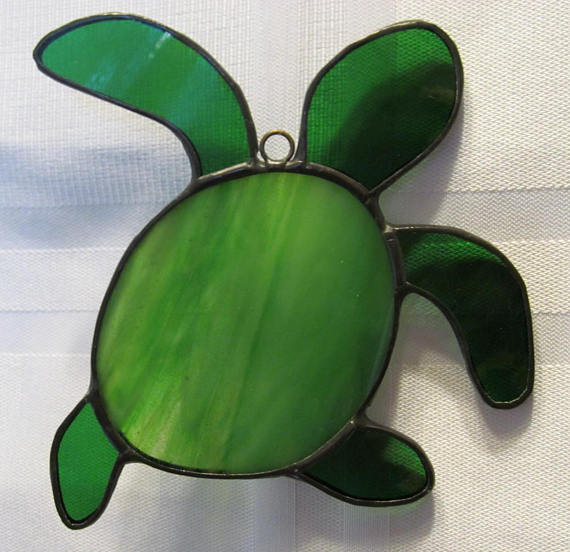 Baby Sea Turtle Stained Glass Suncat