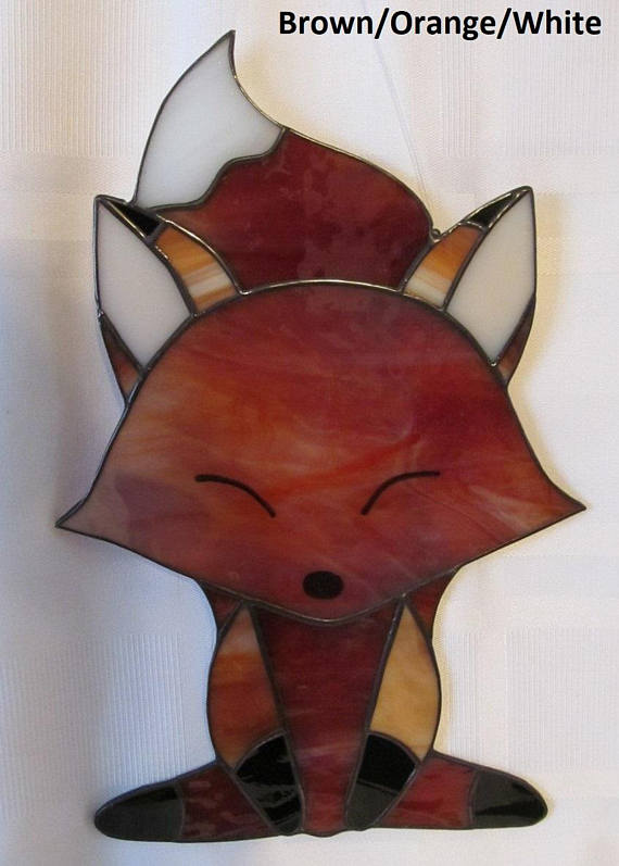 Fox Stained Glass Suncatcher