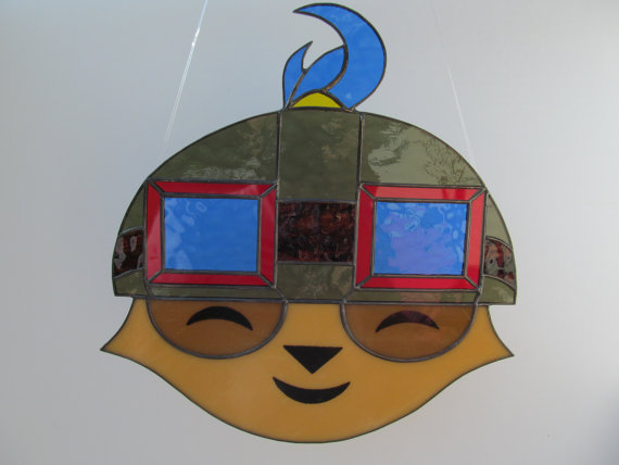 LOL Teemo Stained Glass Suncatcher