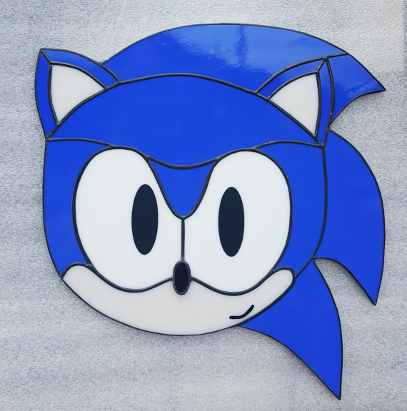 Sonic the Hedgehog Fan Based Stained