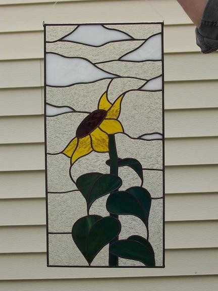 Field Sunflower Stained Glass Suncat