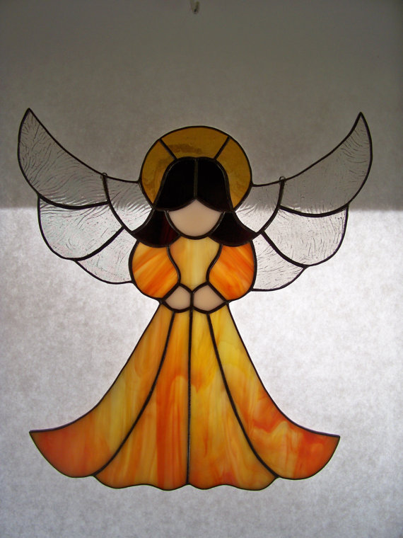 Grace Stained Glass Angel Suncatcher