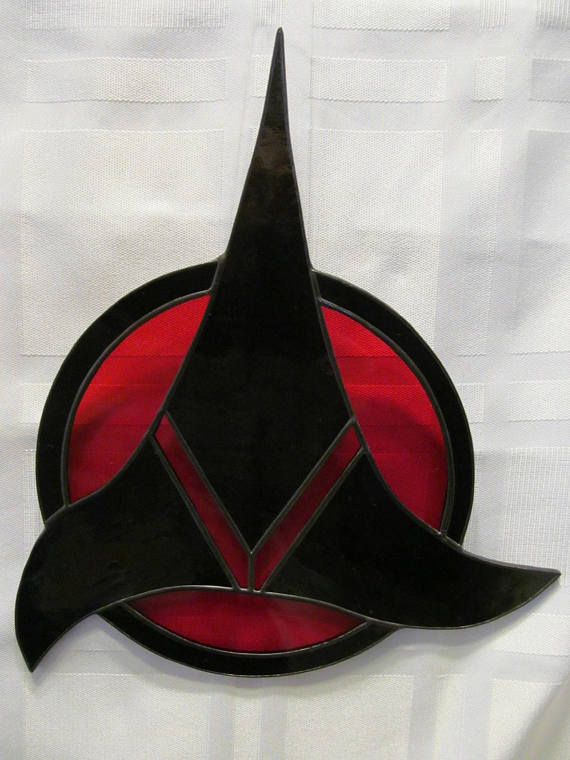 Klingon Symbol Stained Glass Suncatc