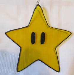 Stained Glass Mario Star
