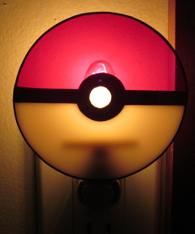 Stained Glass Pokeball Nite Lite