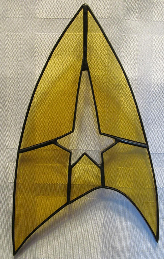 Star Trek Star Fleet Symbol Stained