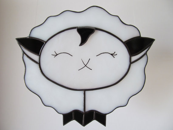 Lamb Sheep Stained Glass Suncatcher