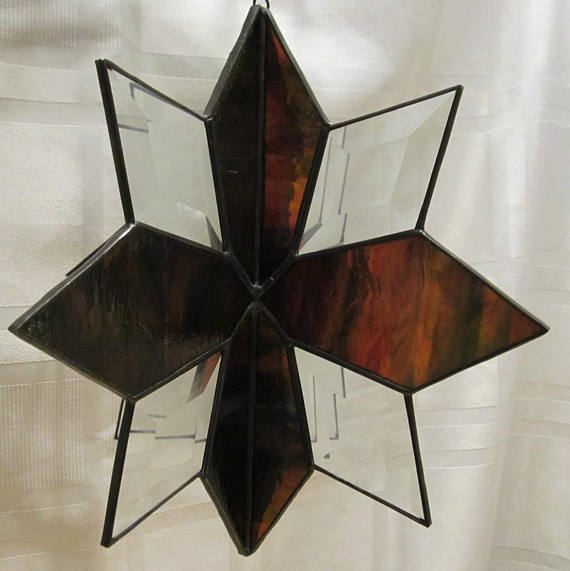 Stained Glass 3D Beveled Star