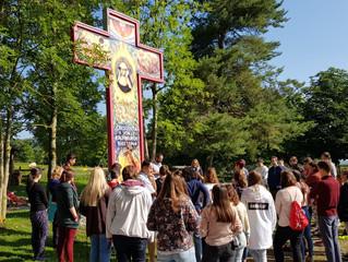 Große ungarische Pilgergruppe in Bickenried