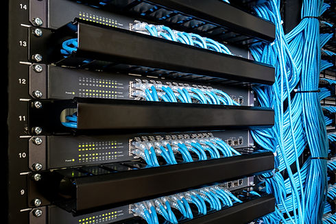 Many network switch hubs and ethernet ca