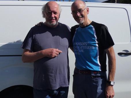 Martin meets childhood friend 'Willie' Wilson, rock star drummer, after c55 years!