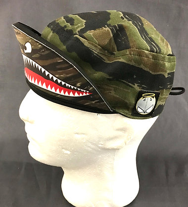 Green TigerStripe bomber Cap