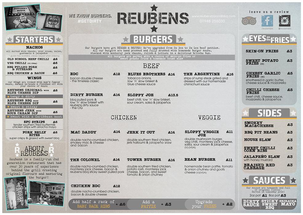 REUBENS place mat menu 2020 WHITCHURCH o